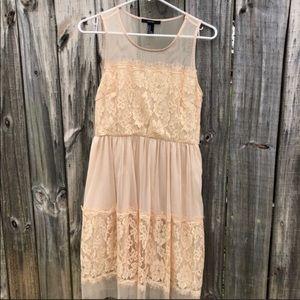 3/$30 Forever 21 Nude Mesh Dress